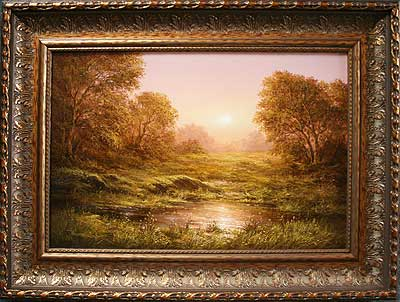 Пейзаж натюрморт восточный автор